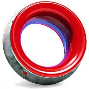Aluminiumring med invändig beläggning av polyuretan. Detalj i pumphuset monterad i en centrifugalpump. Polyuretanbeläggningen är till som skydd mot slitande partiklar i den passerande vätskan.
