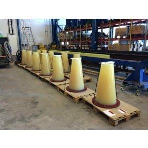 Bend Stiffeners (Böj Styvare) med ingjuten stålfläns